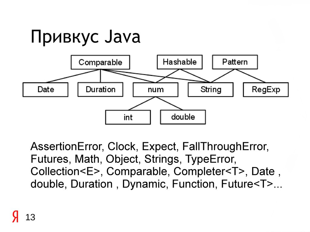 13 Привкус Java AssertionError, Clock, Expect, ...