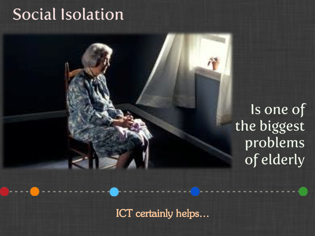 Social Isolation Is one of the biggest problems...