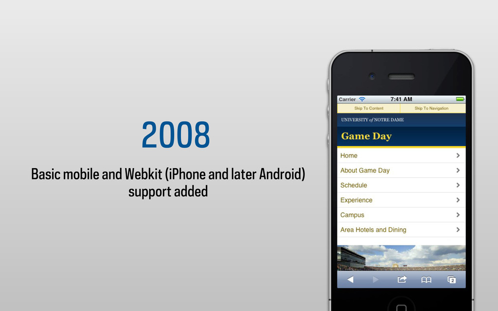 2008 Basic mobile and Webkit (iPhone and later ...