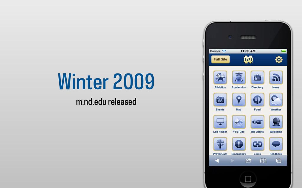 Winter 2009 m.nd.edu released