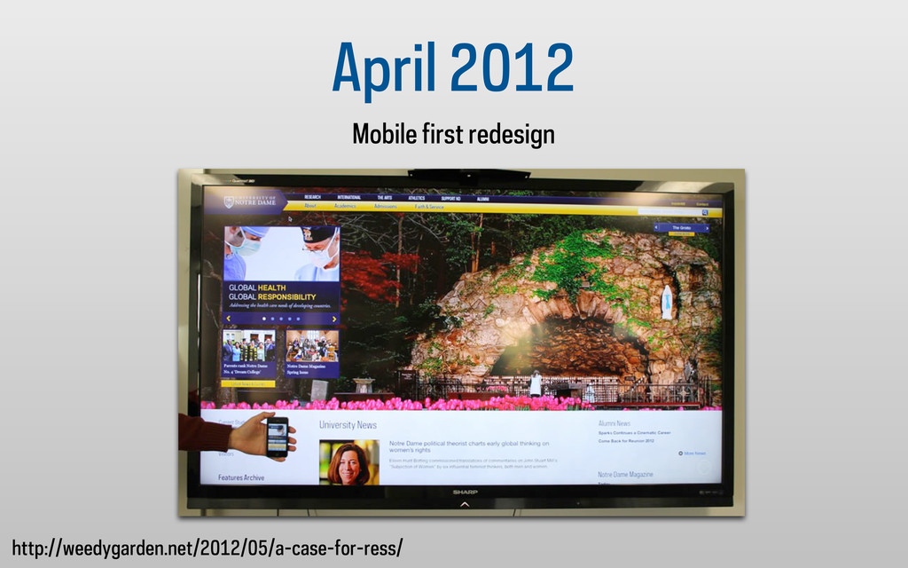 April 2012 Mobile first redesign http://weedyga...