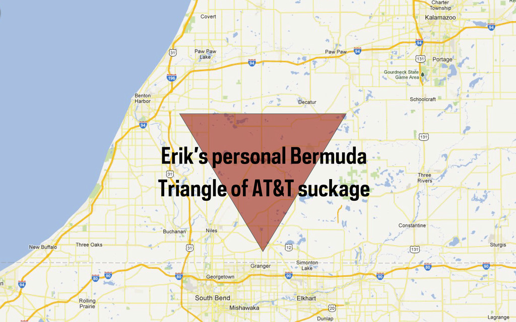 Erik's personal Bermuda Triangle of AT&T suckage