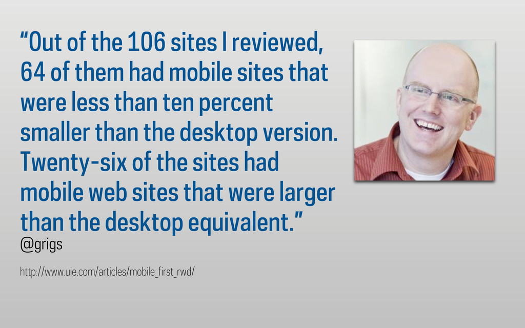 """Out of the 106 sites I reviewed, 64 of them ha..."