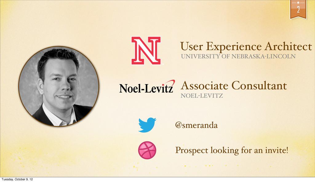 2 @smeranda User Experience Architect UNIVERSIT...