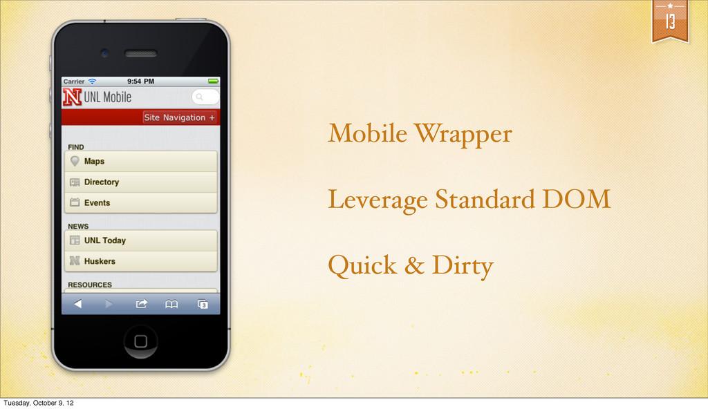 13 Mobile Wrapper Leverage Standard DOM Quick &...