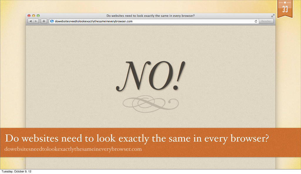 33 Do websites need to look exactly the same in...