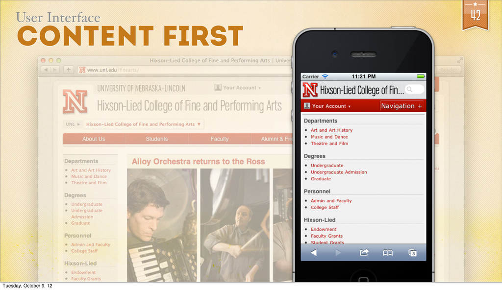 42 User Interface COntent First Tuesday, Octobe...