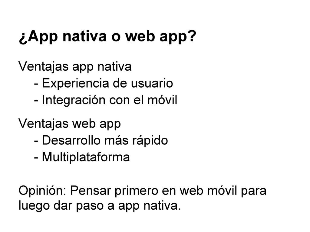 ¿App nativa o web app? Ventajas app nativa - Ex...