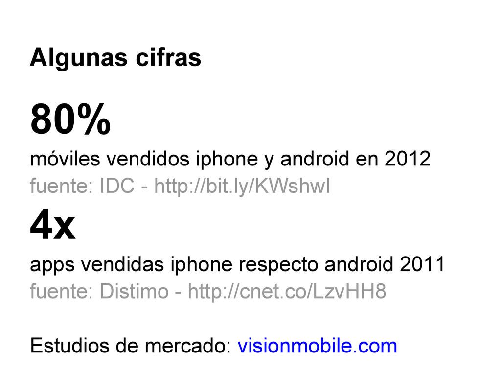 Algunas cifras 80% móviles vendidos iphone y an...