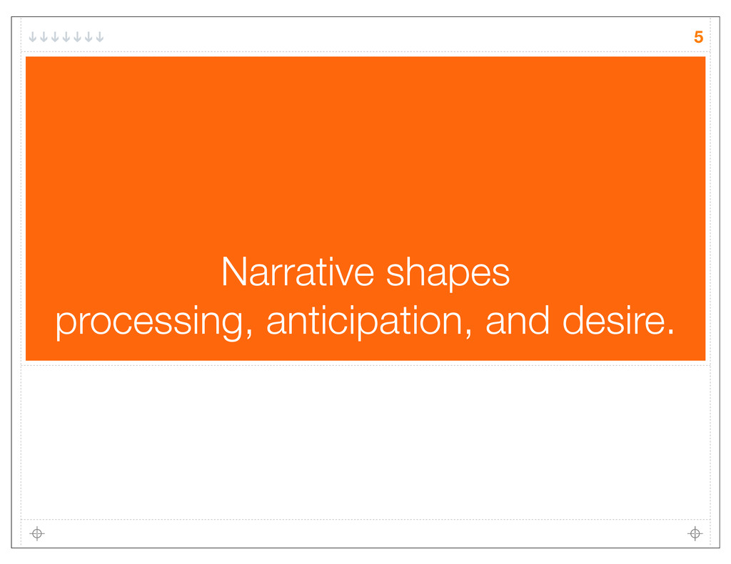 5 Narrative shapes processing, anticipation, an...