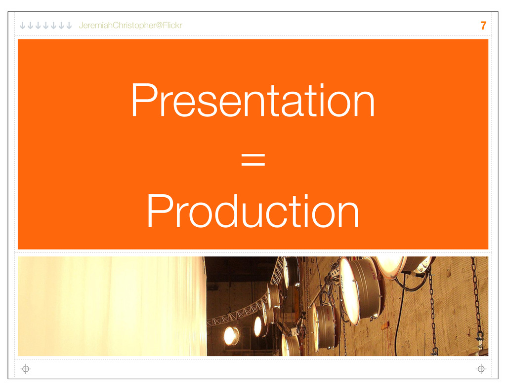 Presentation = Production 7 JeremiahChristopher...
