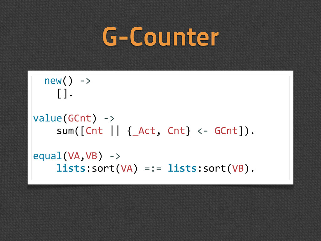 G-Counter new()	