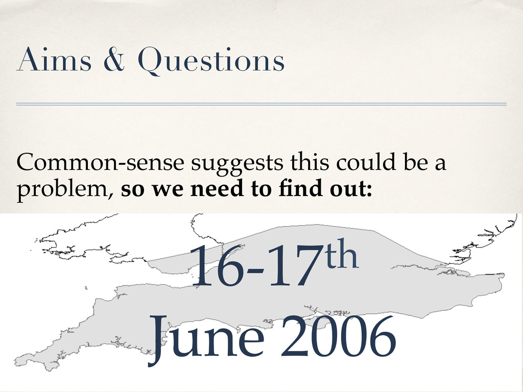 Aims & Questions
