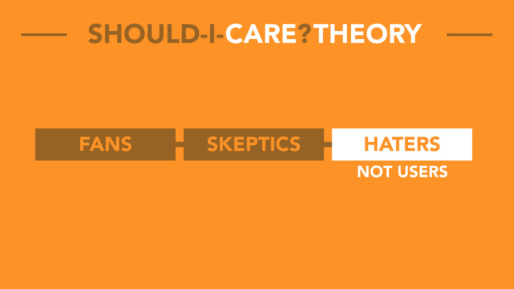 FANS SKEPTICS HATERS CARE THEORY SHOULD-I- ? NO...