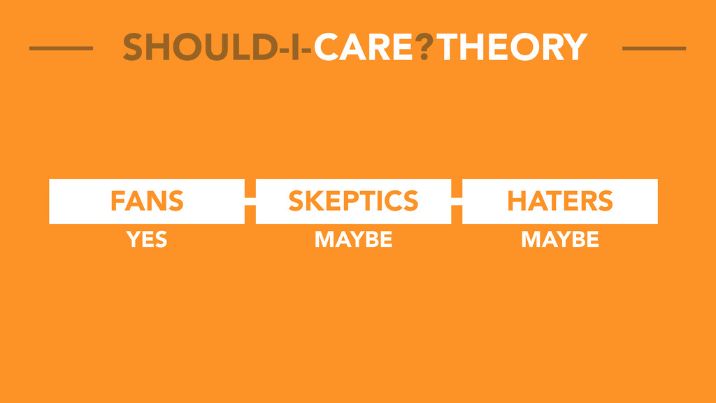 FANS SKEPTICS HATERS CARE THEORY SHOULD-I- ? YE...