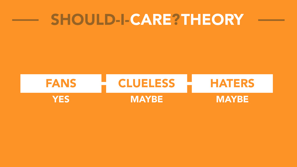 FANS CLUELESS HATERS CARE THEORY SHOULD-I- ? YE...