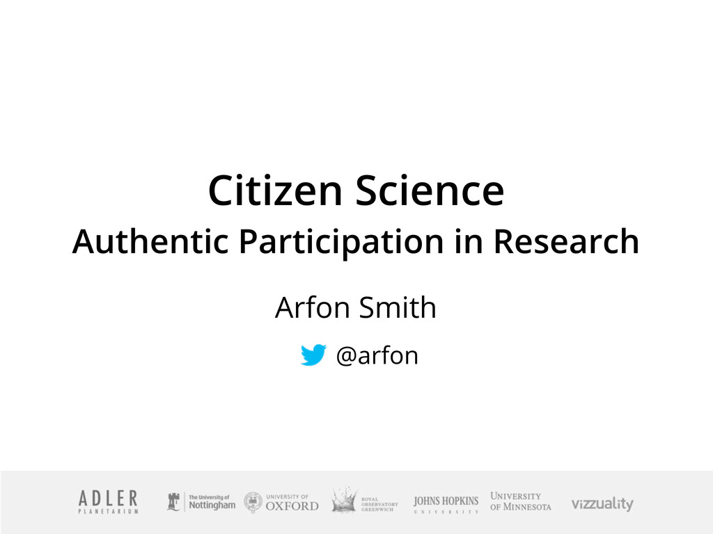 Citizen Science Authentic Participation in Rese...