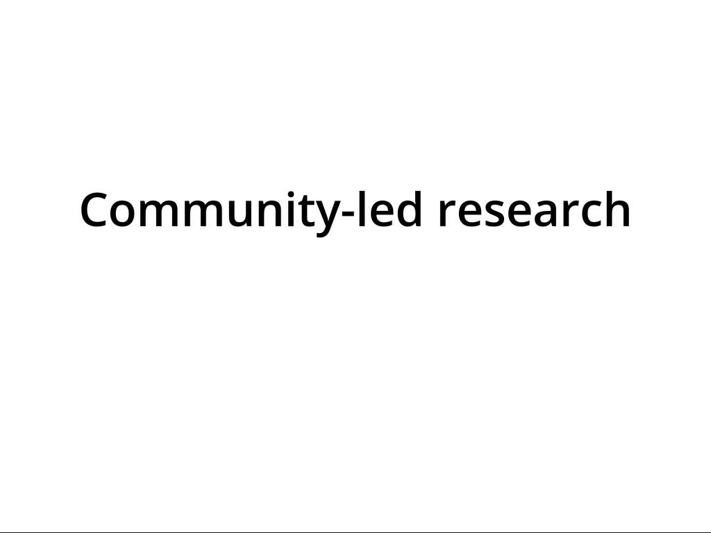 70,000,000 Classifications Community-led resear...