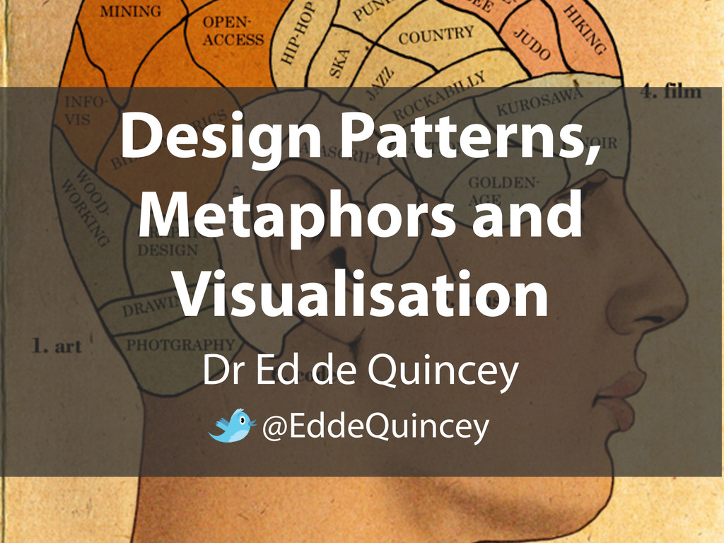 Design Patterns, Metaphors and Visualisation Dr...