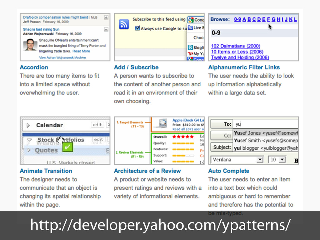 http://developer.yahoo.com/ypatterns/