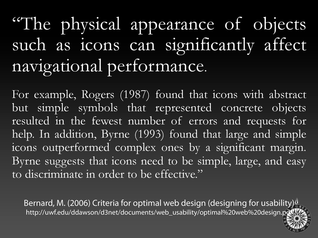 """""""The physical appearance of objects such as ico..."""