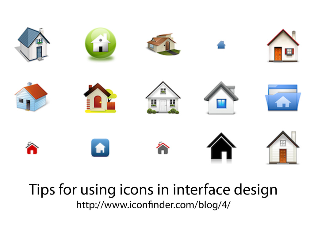 Tips for using icons in interface design http:/...