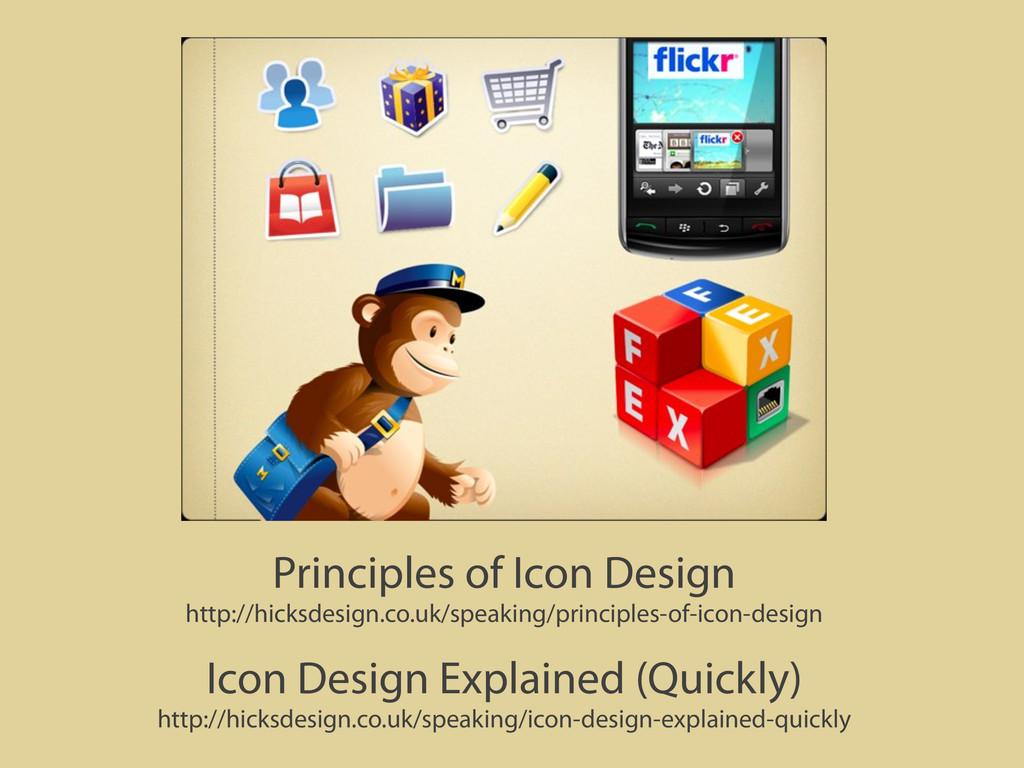 Principles of Icon Design http://hicksdesign.co...