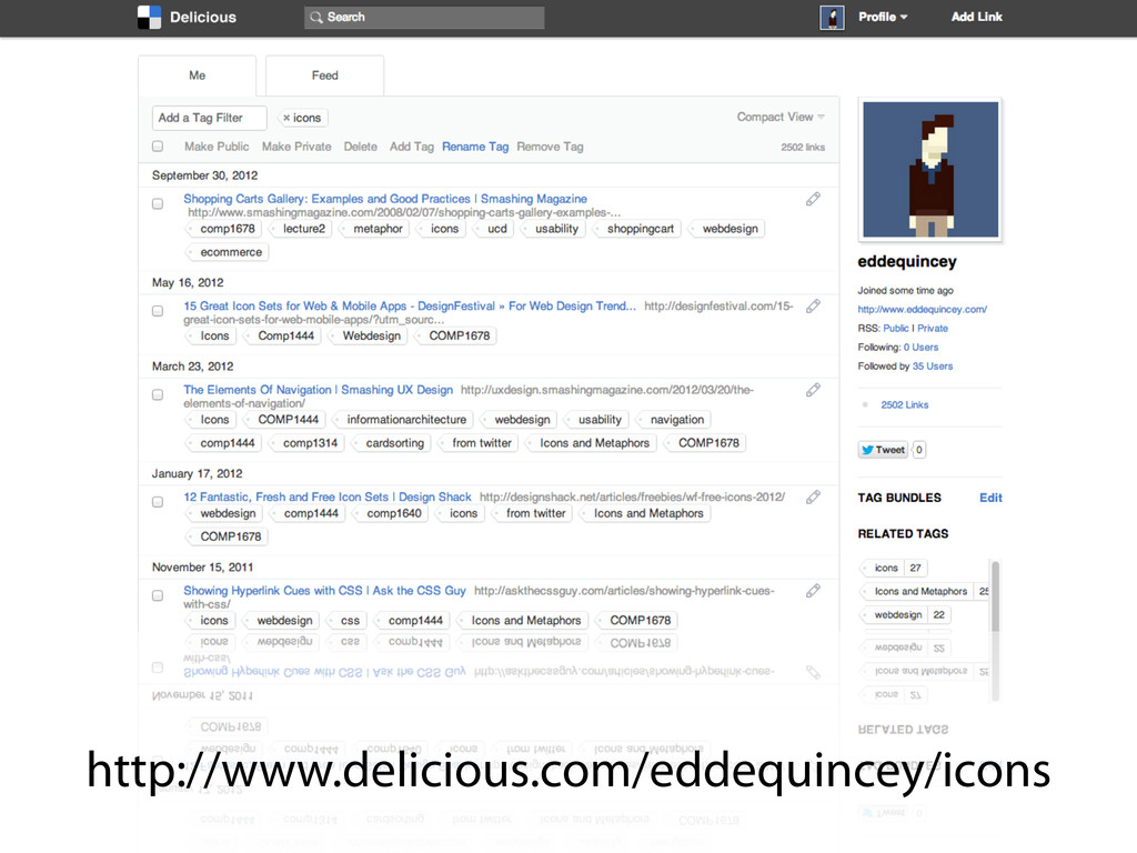 http://www.delicious.com/eddequincey/icons