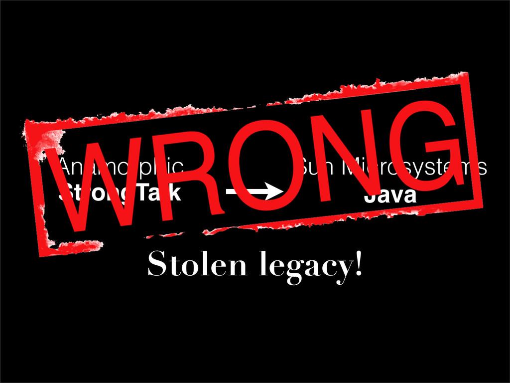 Anamorphic StrongTalk Sun Microsystems Java Sto...