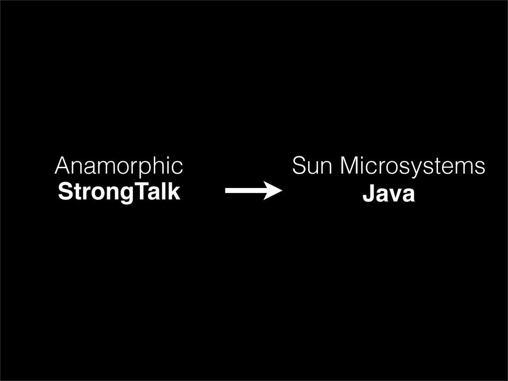 Anamorphic StrongTalk Sun Microsystems Java