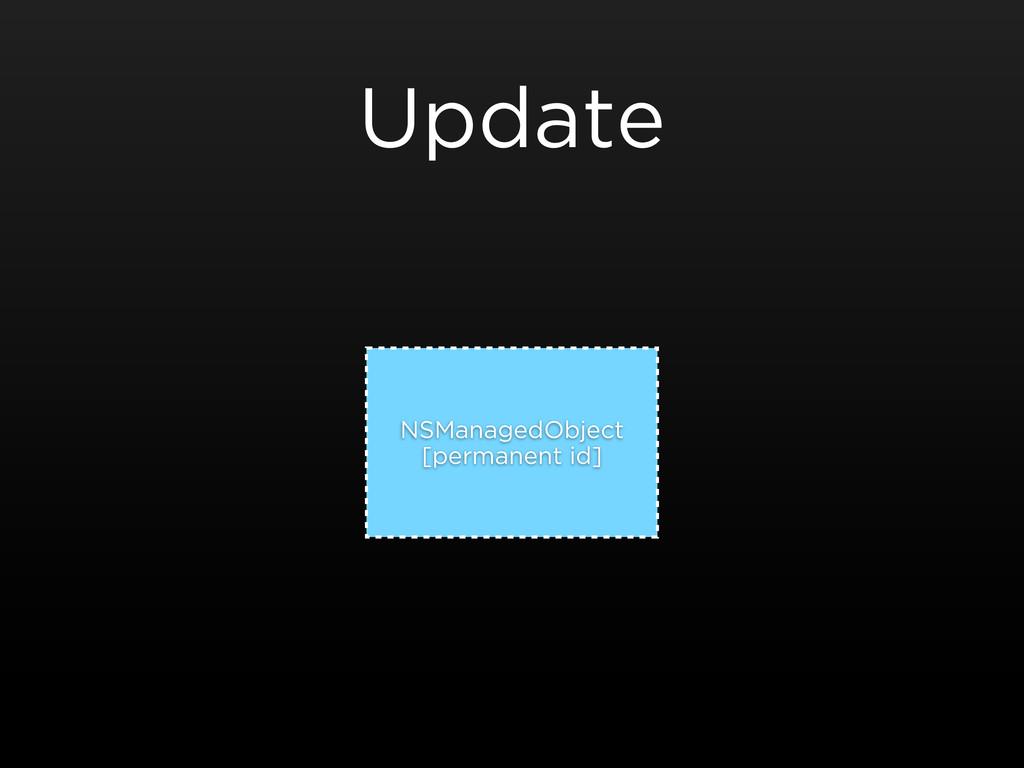 Update NSManagedObject [permanent id]