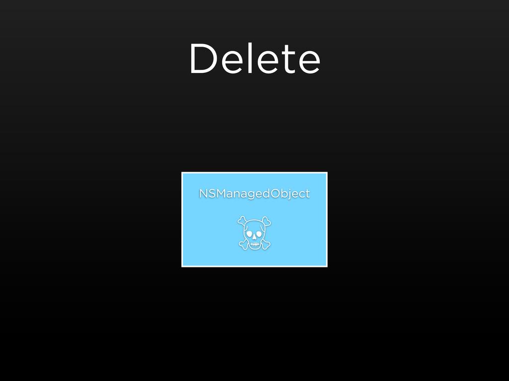 Delete NSManagedObject ☠
