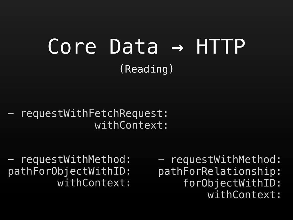 Core Data → HTTP - requestWithFetchRequest: wit...