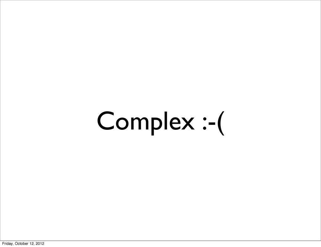 Complex :-( Friday, October 12, 2012