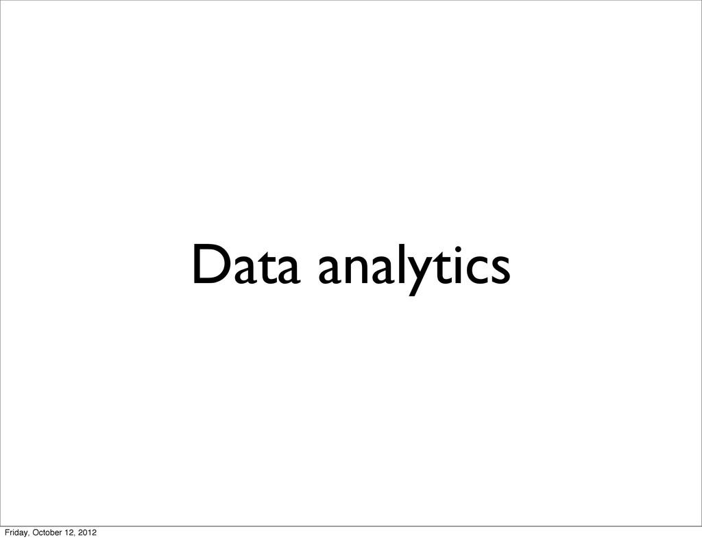 Data analytics Friday, October 12, 2012