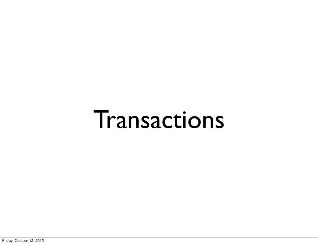 Transactions Friday, October 12, 2012