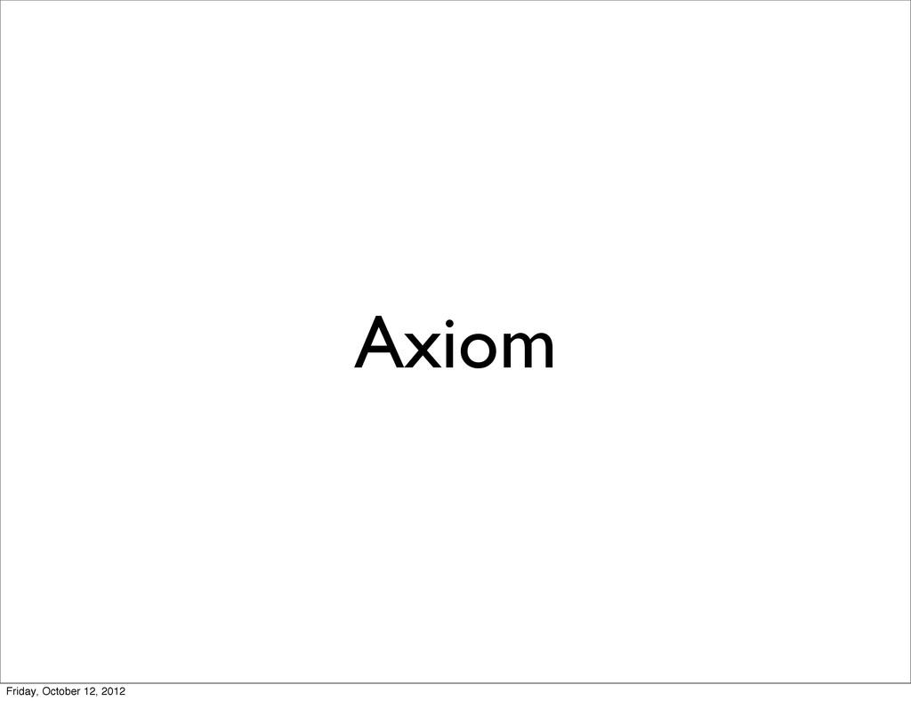 Axiom Friday, October 12, 2012