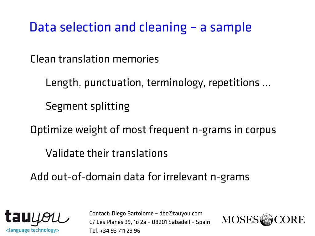 Data selection and cleaning – a sample Clean tr...