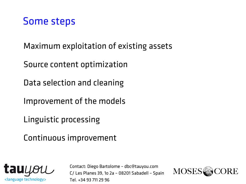 Some steps Maximum exploitation of existing ass...