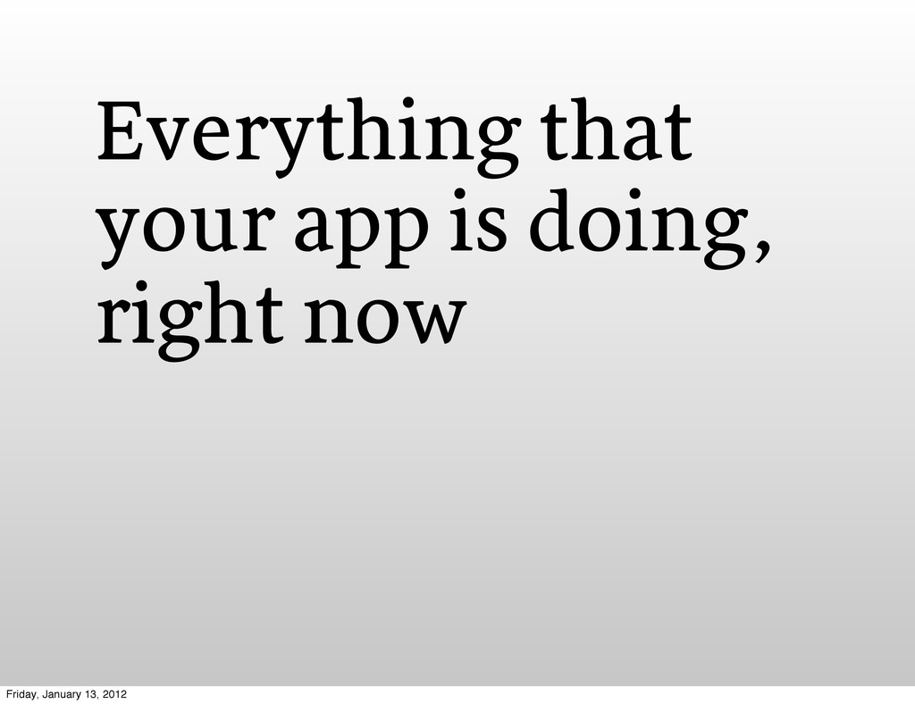 Everything that your app is doing, right now Fr...