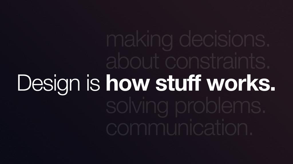 making decisions. about constraints. solving pr...