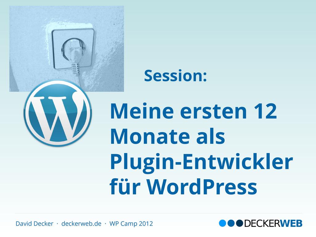 David Decker · deckerweb.de · WP Camp 2012 Mein...