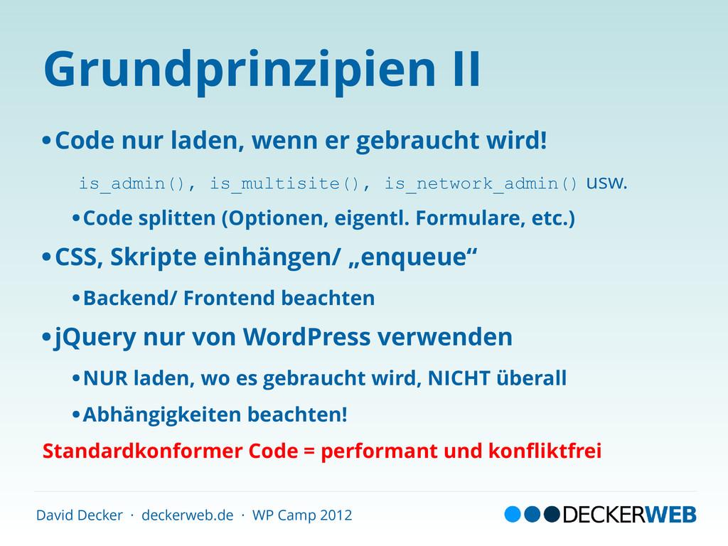David Decker · deckerweb.de · WP Camp 2012 Grun...