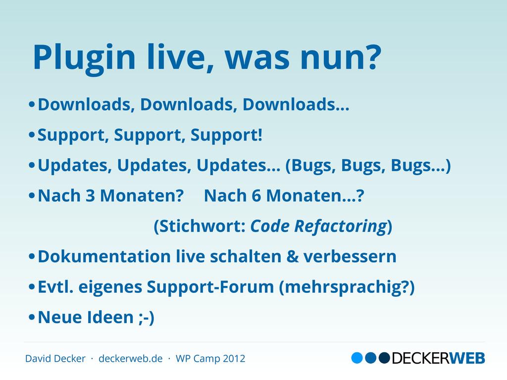 David Decker · deckerweb.de · WP Camp 2012 Plug...