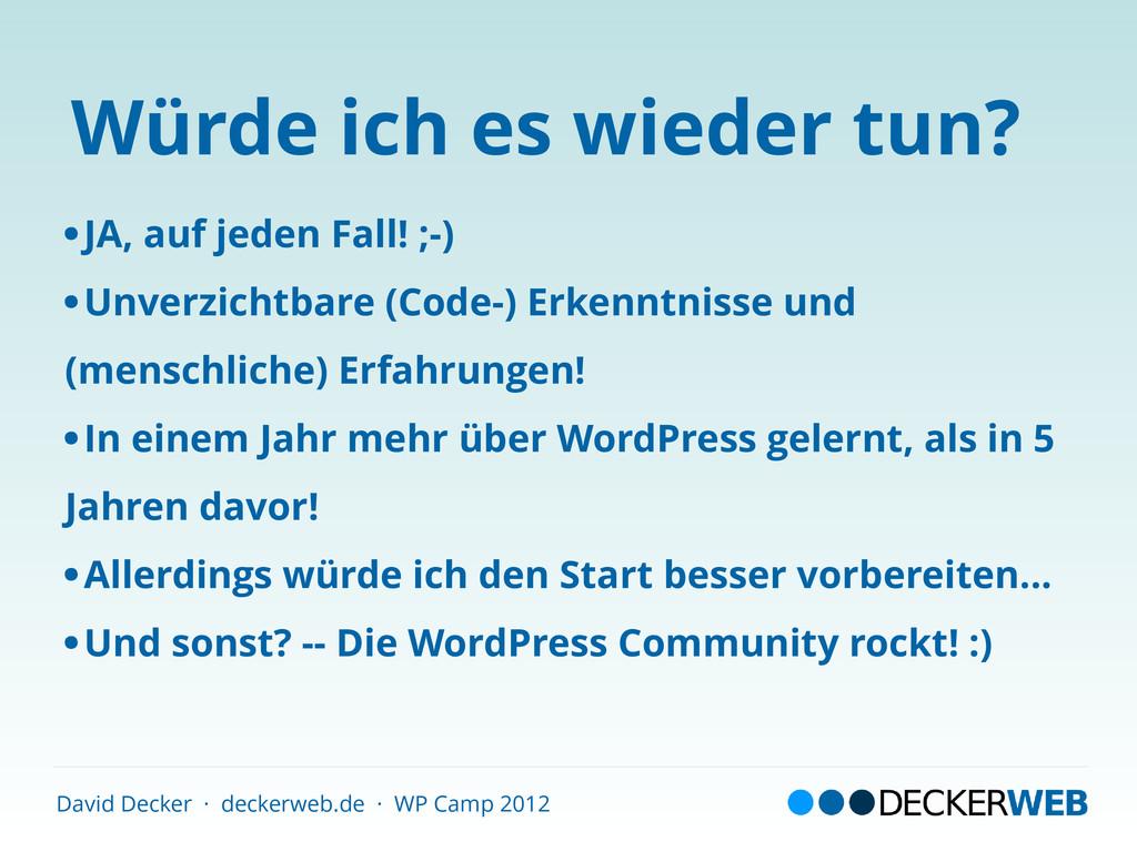 David Decker · deckerweb.de · WP Camp 2012 Würd...