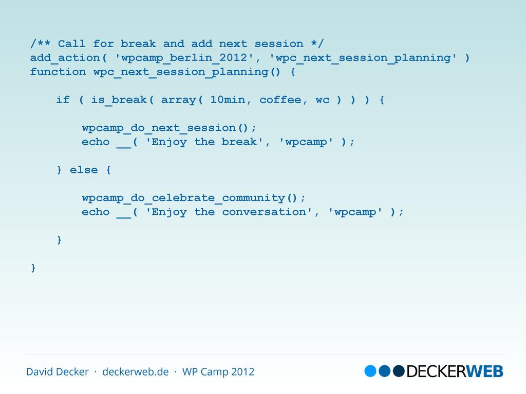 David Decker · deckerweb.de · WP Camp 2012 /** ...