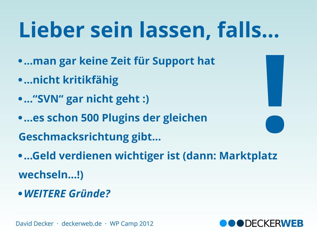 David Decker · deckerweb.de · WP Camp 2012 Lieb...