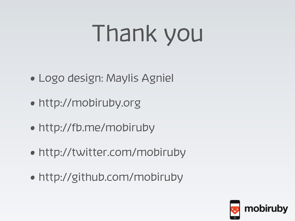 Thank you • Logo design: Maylis Agniel • http:/...