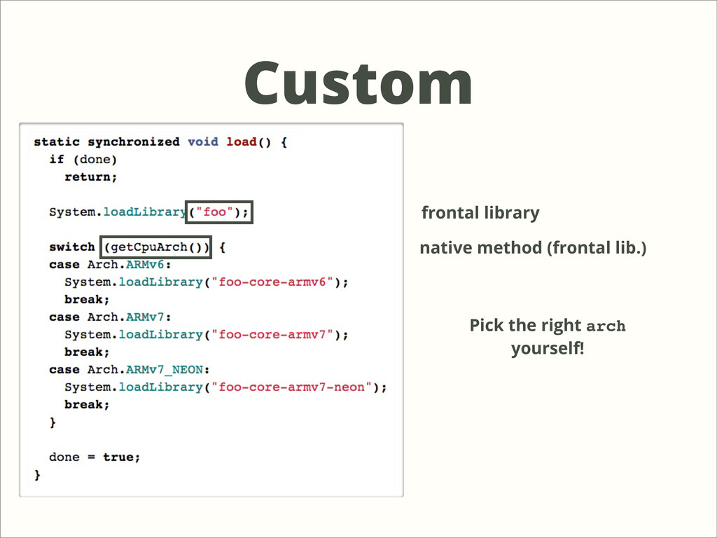 Custom frontal library native method (frontal l...