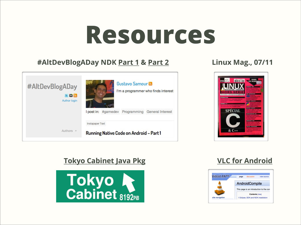 Resources #AltDevBlogADay NDK Part 1 & Part 2 L...